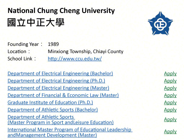 Kaohsiung Medical University, Kaohsiung-shows address, logo & clickable link