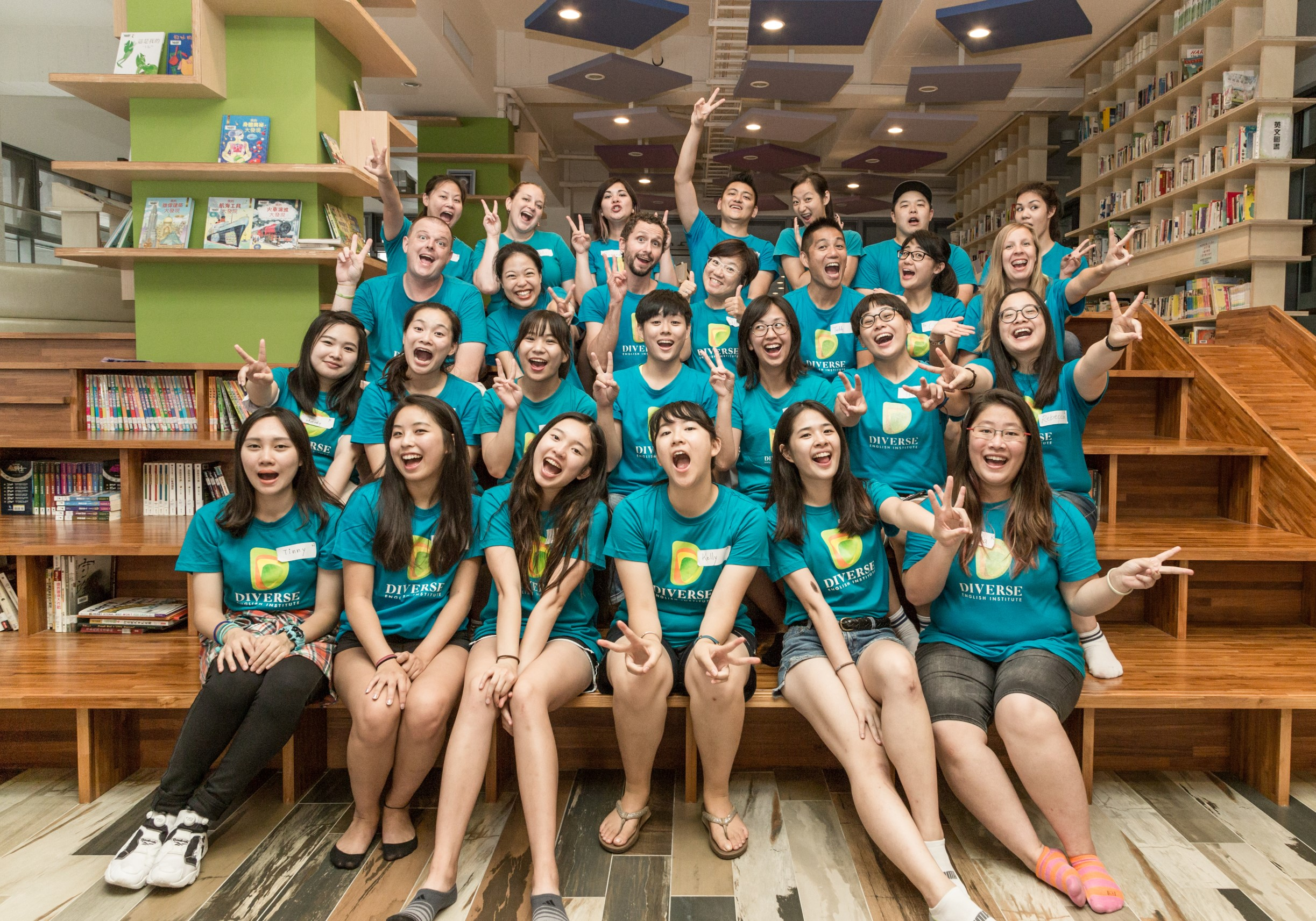 Teaching English and Living in Taiwan, Full-time positions available. Competitive pay and benefits!! Excellent environment and curriculum. Join us at DIVERSE!  image